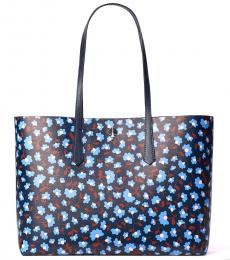 Kate Spade Blazer Blue Molly Party Floral Large Tote