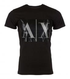 Armani Exchange Black Logo Slim Fit T-Shirt