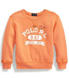 Little Boys Classic Peach French Terry Sweatshirt