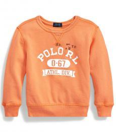 Ralph Lauren Little Boys Classic Peach French Terry Sweatshirt