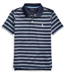 Ralph Lauren Boys Newport Navy Striped Performance Polo