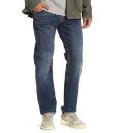 Blue Original Straight Leg Jeans