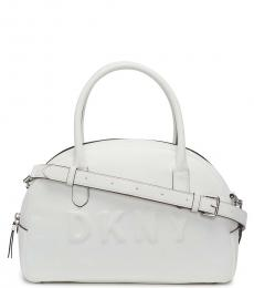 DKNY White Tilly Dome Large Satchel