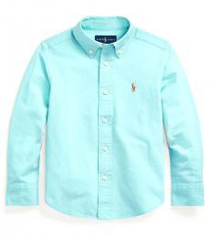 Ralph Lauren Little Boys Light Mint Cotton-Blend Shirt