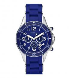 Marc Jacobs Chrono Blue Silicone Watch