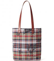 Ralph Lauren Patchwork Madras Large Tote