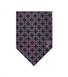 Versace Red Sky Chain-Link Tie