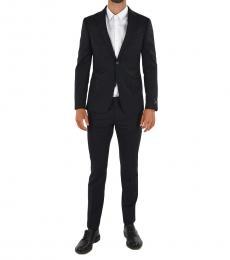 Ermenegildo Zegna Navy Blue Flap Pocket Button Suit