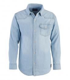 Calvin Klein Boys Blue Iconic Denim Shirt