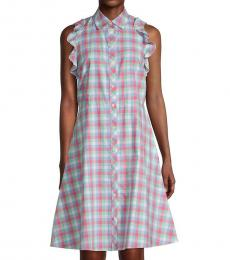 Kate Spade Multicolor Checkered Cotton A-Line Dress