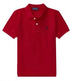 Ralph Lauren Little Boys Red Mesh Polo