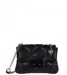 Black Ellie Quilted Mini Shoulder Bag