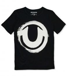 True Religion Boys Black Graphic Logo T-Shirt