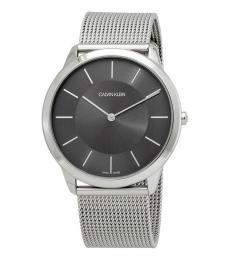 Calvin Klein Silver Minimal Logo Watch