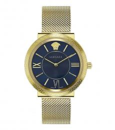 Versace Gold Blue Dial Watch
