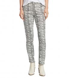 AG Adriano Goldschmied Ivory High-Rise Straight Jeans