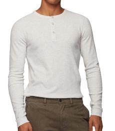 Hugo Boss White Slim-Fit Long Sleeve T-Shirt