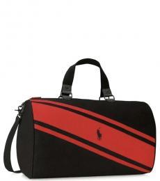 Ralph Lauren Black Stripe Weekender Large Duffle Bag