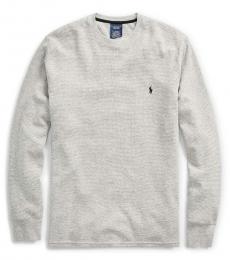 Grey Crew Waffle Thermal Sweater