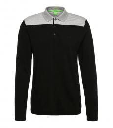 Black Premium Cotton Slim Fit Polo