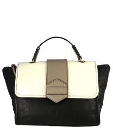 Marc Jacobs Black & White Flipping Out Large Satchel