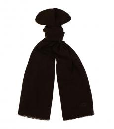 Moschino Black Solid Scarf