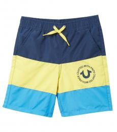 True Religion Little Boys Multicolor Stripes Swim Shorts