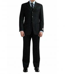 Multicolor Classic Fit Striped Suit