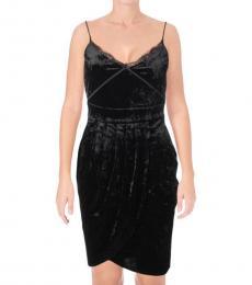 Juicy Couture Pitch Black Velour Tulip Dress
