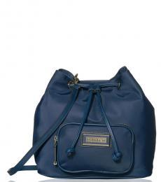 Navy Belfast Medium Bucket Bag