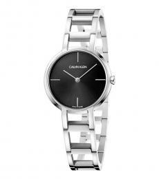 Silver Cheers Quartz Black Dial Watch