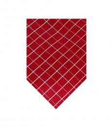 Michael Kors Red Print Silk Tie