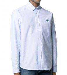 Kenzo Light Blue Cotton Tiger Shirt