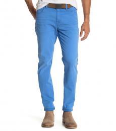 Cobalt Blue Adrien Slim Straight Jeans