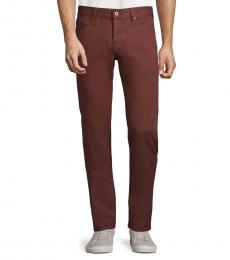 AG Adriano Goldschmied Deep Mahogany Slim Skinny Jeans