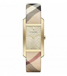 Burberry Beige Rectangle Modish Watch