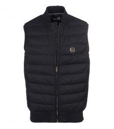 Love Moschino Black Logo Sleeveless Vest Jacket