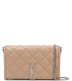 Saint Laurent Beige Becky Small Shoulder Bag
