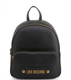 Love Moschino Black Solid Medium Backpack