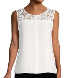 Soft White Lace Shell Top