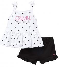 Calvin Klein 2 Piece Top/Shorts Set (Little Girls)