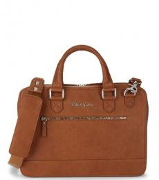 Robert Graham Cognac Buster Large Briefcase Bag