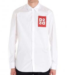 Dsquared2 White Logo Patch Shirt