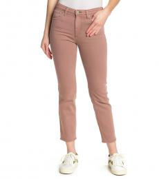 AG Adriano Goldschmied Pink Isabelle High-Rise Straight Jeans