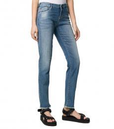 Denim Low-Waist Skinny Jeans