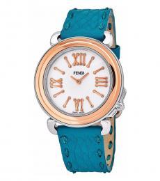 Fendi Blue Pearl Dial Watch