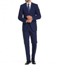 Vince Camuto Navy Blue Notch Lapel Slim Fit Suit