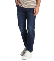 Dark Blue Slim Straight Jeans