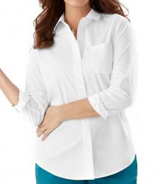 White Classic Button Down Shirt