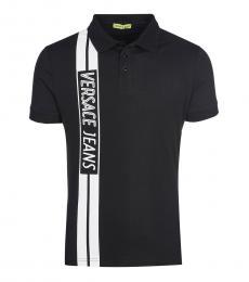 Versace Jeans Black Side Logo Polo